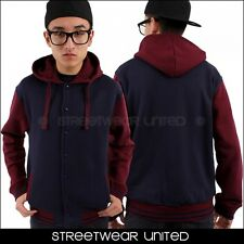 Sudadera Con Capucha Universitaria Azul Marino State Property - Hip Hop Money