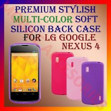 ACM-PREMIUM STYLISH MULTI-COLOR LG GOOGLE NEXUS 4 SOFT SILICON BACK COVER CASE