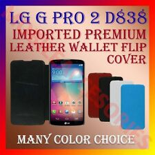 ACM-MULTI-COLOR IMPORTED RICH LEATHER CASE for LG G PRO 2 D838 WALLET FLIP COVER