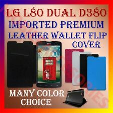 ACM-MULTI-COLOR IMPORTED PREMIUM LEATHER CASE for LG L80 DUAL D380 FLIP COVER