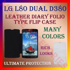 ACM-LEATHER DIARY FOLIO FLIP CASE for LG L80 DUAL D380 MOBILE FRONT/BACK COVER