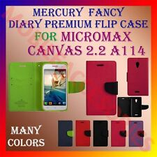 ACM-MERCURY RICH DIARY FLIP CASE of MICROMAX CANVAS 2.2 A114 MOBILE WALLET COVER