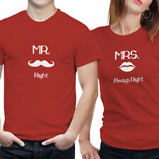iberrys-Couple Tshirts DryFit Polyester- Mr. & Mrs.