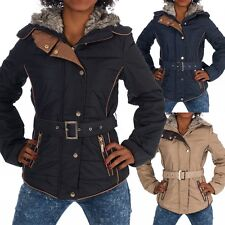 H440 Damen Winter Jacke Steppjacke Parka Jacket Daunen Look Winterjacke