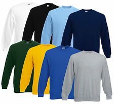 FRUIT OF THE LOOM HERREN SET-IN SWEATSHIRT VERSCH. FARBEN S-XXL NEU