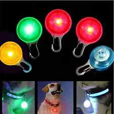 Pet Dog Cat Puppy LED Flashing Collar Safety Night Light Pendant With Battery LT
