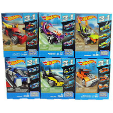 HOT WHEELS MEGA BLOKS 3 IN 1 BUILDABLE VEHICLES / CHOOSE YOUR FAVOURITE! AGE 5+