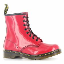 Dr.Martens 1460W Red Patent Leather Womens Boots