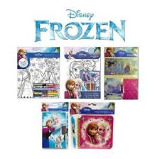 DISNEY FROZEN SCHOOLSET COLOURING PAGES SET CRAYONS SECRET