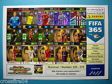 Panini Adrenalyn XL FIFA 365 - FF, Def, Game Changer-  Alle Karten Nr. 226 - 279