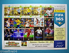 Panini FIFA 365 - International Star, Signature, Legend - Karten Nr. 332 - 378