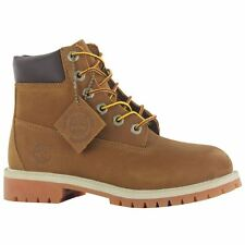 Timberland 6 Inch Permium Brown Leather Girl Boys Youths Boots