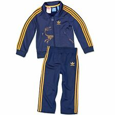 ADIDAS ORIGINALS FIREBIRD DINO ENFANTS JOGGER SURVÊTEMENT SPORT COSTUME BLEU