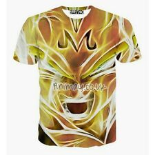 DRAGON BALL Z ANIME SUPER SAIYAN MAJIN VEGETA HD 3D PRINT T-SHIRT MENS UNISEX