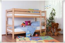 Beni Bunk bed solid Beech Nature divisible Single beds CINDIRELLA