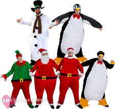 CHRISTMAS FAT SUIT XMAS CHARACTERS FUNNY NOVELTY HOOPED FANCY DRESS COSTUME
