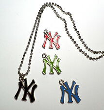 Collana NEW YORK YANKEES Logo Ciondolo NY BASEBALL Lunga PALLINATA Smaltato