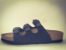 New Birkenstock Florida Classic Sandals - Matte Black - Made In Germany