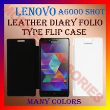 ACM-LEATHER DIARY FOLIO FLIP CASE COVER for LENOVO A6000 SHOT MOBILE FRONT BACK