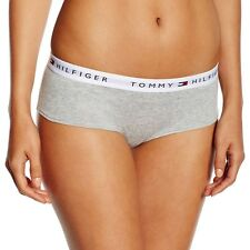 Tommy Hilfiger Underwear Women's Iconic Cotton Shorty Brief, Grey Hipster Panty