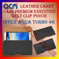ACM-BELT CASE for INTEX AQUA TURBO 4G MOBILE LEATHER POUCH COVER HOLDER HOLSTER