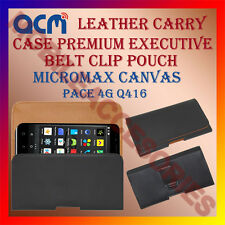 ACM-BELT CASE for MICROMAX CANVAS PACE 4G Q416 MOBILE LEATHER POUCH COVER HOLDER