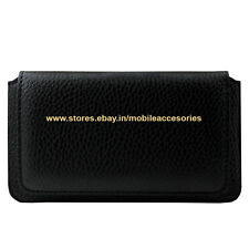 ACM-HORIZONTAL LEATHER CARRY CASE for MICROMAX CANVAS BLAZE 4G PLUS Q414 COVER