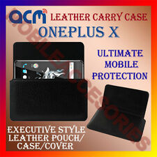 ACM-HORIZONTAL LEATHER CARRY CASE for ONEPLUS X MOBILE COVER POUCH HOLDER LATEST