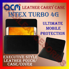 ACM-HORIZONTAL LEATHER CARRY CASE for INTEX TURBO 4G MOBILE COVER HOLDER POUCH