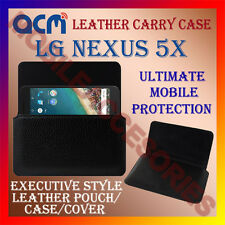 ACM-HORIZONTAL LEATHER CARRY CASE for LG NEXUS 5X MOBILE COVER POUCH HOLDER NEW