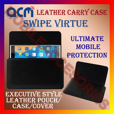 ACM-HORIZONTAL LEATHER CARRY CASE for SWIPE VIRTUE MOBILE COVER POUCH HOLDER NEW