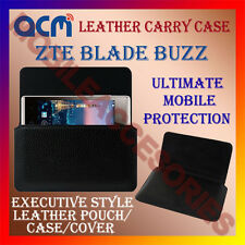 ACM-HORIZONTAL LEATHER CARRY CASE for ZTE BLADE BUZZ MOBILE COVER POUCH HOLDER