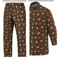COMPLETO CUOCO EGOCHEF PANTALONE GIACCA SWEETS PASTICCERE CHEF JACKET PANTS