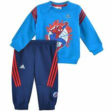 ADIDAS + DISNEY BABY KINDER TRAININGSANZUG SPIDERMAN JOGGER JOGGINGANZUG BLAU