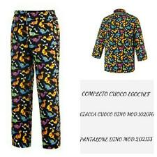 COMPLETO CUOCO EGOCHEF PANTALONE GIACCA DINO COMPLETE CHEF JACKET PANTS
