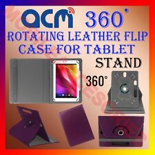 """ACM-ROTATING PURPLE FLIP STAND COVER 10"""" CASE for WESPRO 10 360 ROTATE TABLET"""