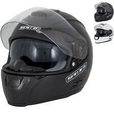 Spada SP16 Plain Motorcycle Helmet Full Face Internal Sun Visor Removable Liner