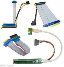 PCI Express. PCI-E USB riser card. 1x to 16x Extender with Molex and Capacitor