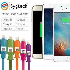 1 Mt Micro usb cable + 8Pin 2 in 1 Sync Data charging charger usb cable.