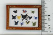 Dollhouse Miniature Artwork - Framed Paper Butterflies