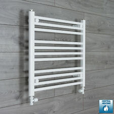 650mm Wide 600mm High Straight White Heated Towel Rail Radiator Bathroom Rad