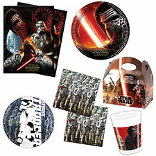 Star Wars Episode VII 7 The Force Awakens Children's Party Tableware Listing