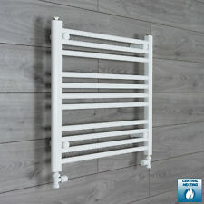 700mm Wide 600mm High Straight White Heated Towel Rail Radiator Bathroom Rad