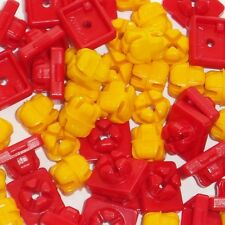 ** PLAYMOBIL ** 25 x RED / YELLOW SYSTEM-X CONNECTORS SPARE PARTS * VGC *