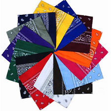 100% Bandana Paisley  COTTON Head Wrap Bandanna Head Wrap New Summer Scarf