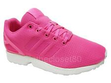 Adidas ZX Flux Solar Pink White Juniors Womens Girls Trainers AF5758