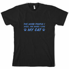 The More People I Meet, the more Me Gusta Mi Gato - camiseta hombre - Gatito