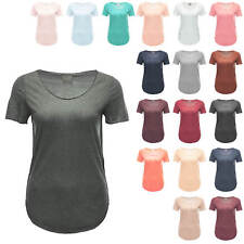 Vero Moda Damen T-Shirt Damenshirt Longshirt Basic Top Longtop Bluse Color - 15%