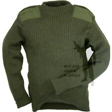 British Army Surplus Army Jumper Commando Pullover Military Clothing Wool Green