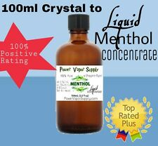 Menthol Crystal Concentrate Liquid in USP PG 100mL E liquid Power Vapor Supply